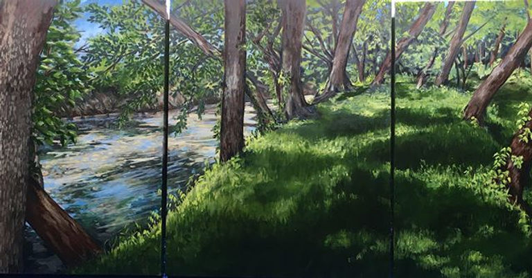 Done !! The triptych plein air landscape