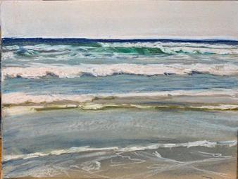 Ocean Kisses 9x12in pastel