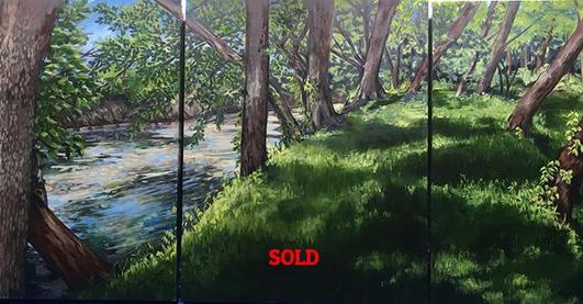 Done !! The triptych plein air landscape