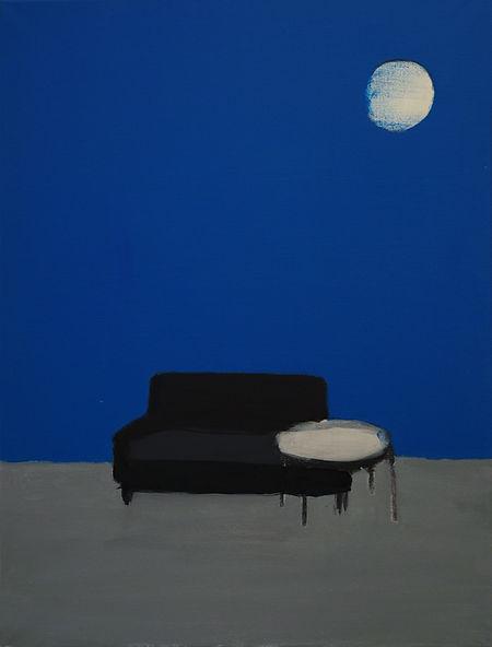 "Nataliya Gurevich, ""Wartenzimmer"", Acryl auf Leinwand, 60cm x 80cm, 2015"
