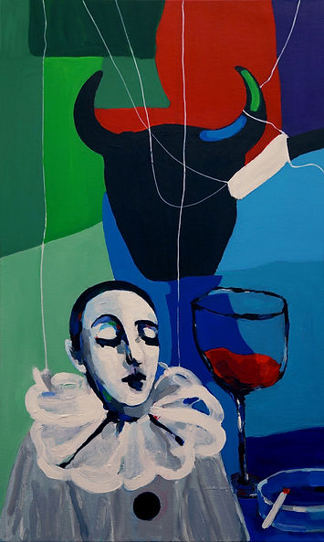 "Nataliya Gurevich, ""After Work Party"", Acryl auf Leinwand, 70cm x 100cm, 2015"
