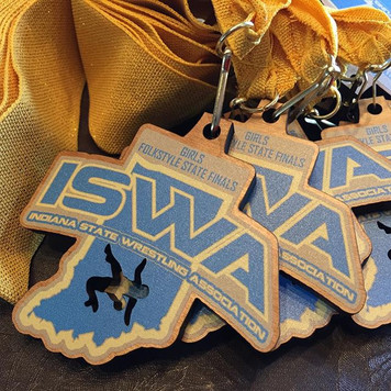 Girls Wrestling Folkstyle Champion medals