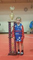 Girls Wrestling Team Trophy