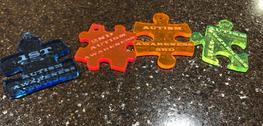 Autism Awareness Acrylic Medals
