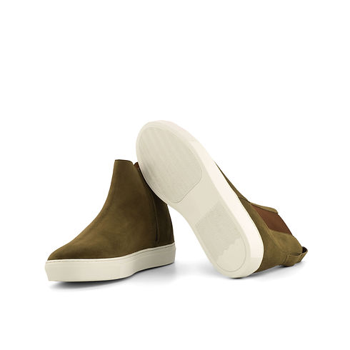 Chelsea Sport Boot - Lux Suede Khaki-Ang