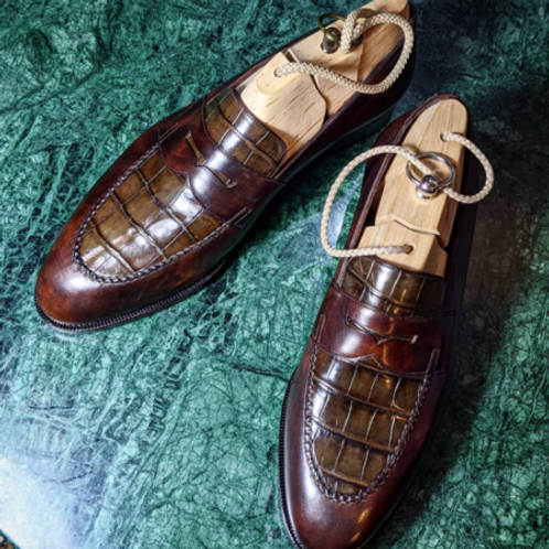 Alligator Loafer -Museum Brown