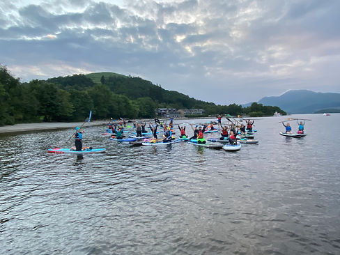 Glasgow Paddleboarders at Luss