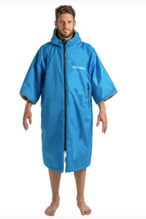 Moon wrap Electric Blue Changing Robe - short sleeve