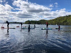 Family boarding at Loch Lomon
