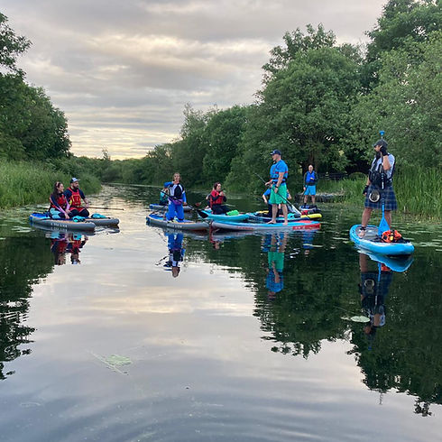 Paddlers On the Canal at Tintock, East D