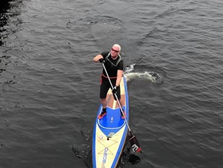 Balloch to Luss - Tail wind, fast board and waves