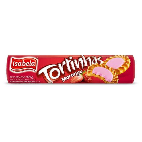 Biscoito Tortinhas Isabela 160g  Morango