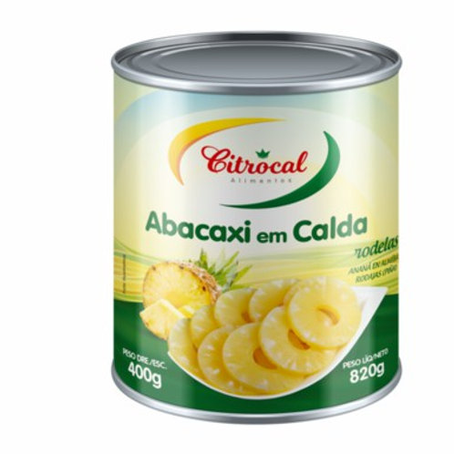Abacaxi Calda Citrocal 400g Rodela Light