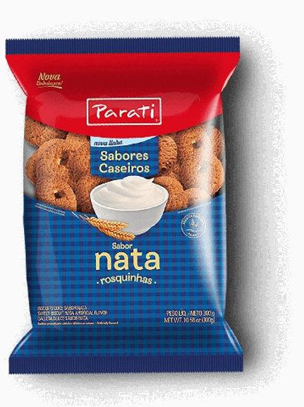 Biscoito Rosquinhas Parati 300g/335g  Nata