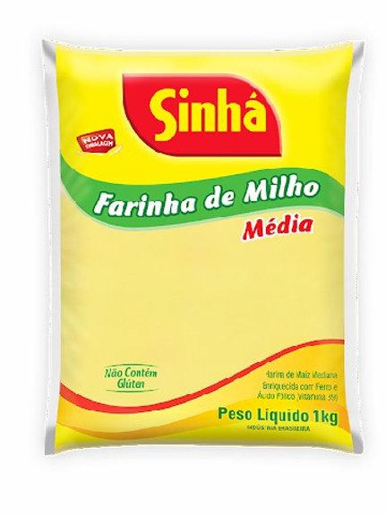 Farinha Milho Sinha 1Kg  Media