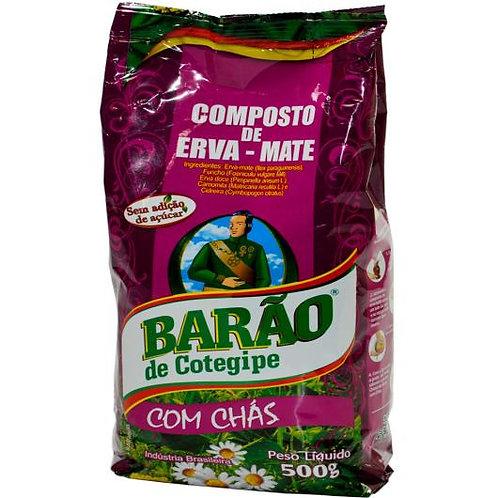 Erva Mate Barão 500g C/Chas