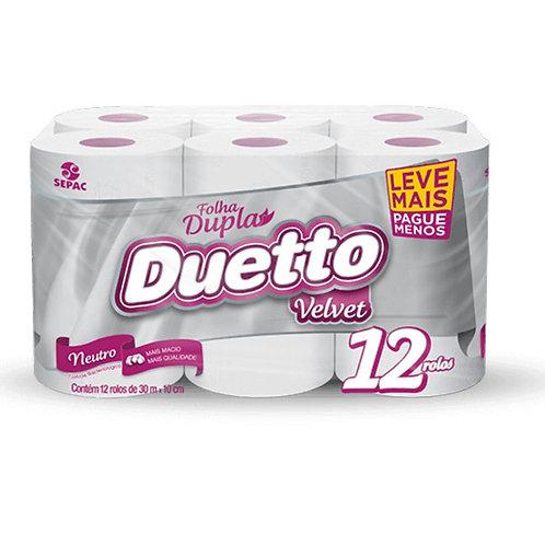 Papel Higiênico Duetto 30M 12Un Velvet