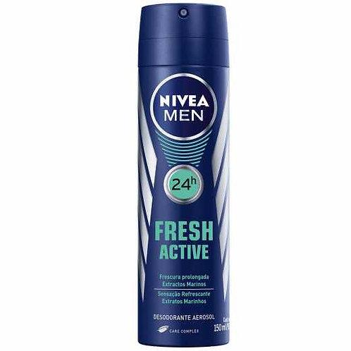 Desodorante Aerosol Nivea Men 150ml  Fresh Active