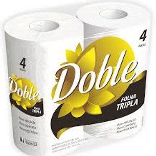 Papel Higiênico Double Folha Tripla 4 Rolos