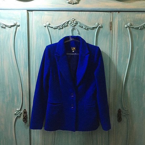 Blazer de lã azul LP - Tam 38
