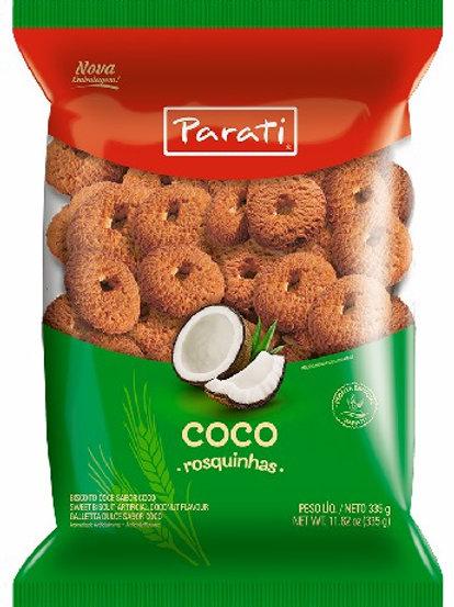 Biscoito Rosquinhas Parati 300g/335g  Coco