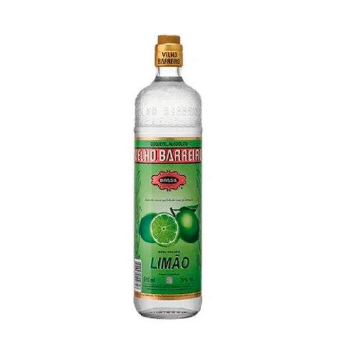 Aguardente Velho Barreiro 910ml Limão