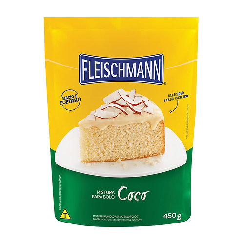 Mistura para Bolo Fleischmann 450g  Coco