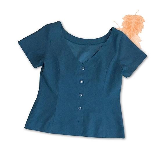 Blusa Azul Turquesa