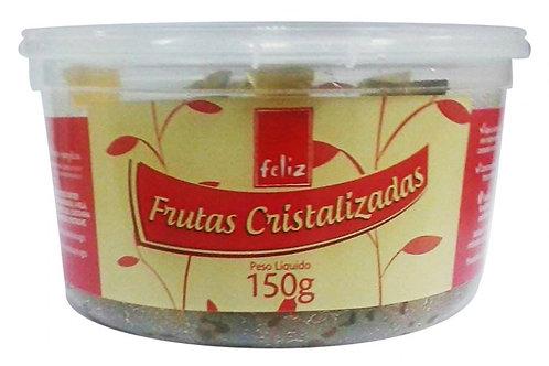 Frutas Cristalizadas Feliz 150g Mistas Em Cubinhos