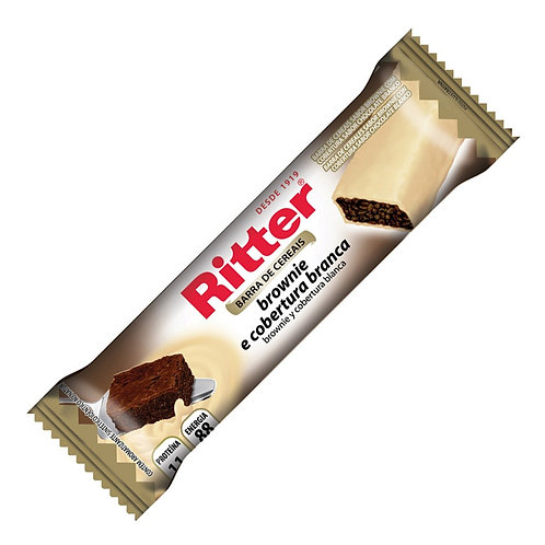 Barra Cereal Ritter 25g  Brownie C/Choc Branco