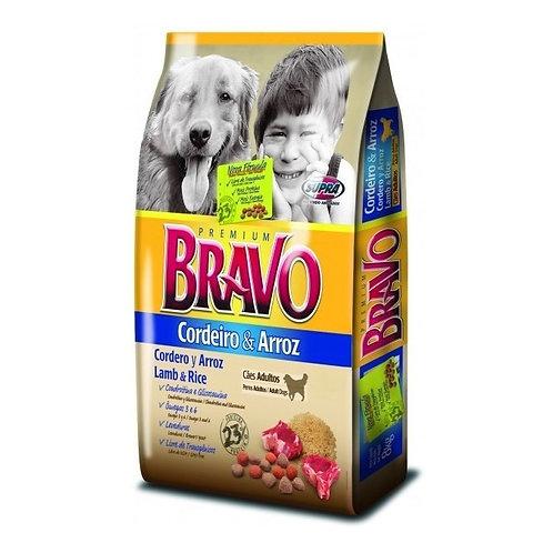 Ração Cães Bravo 8Kg Cordeiro Arroz