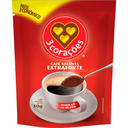 Café Três Corações Solúvel 50g Extra Forte