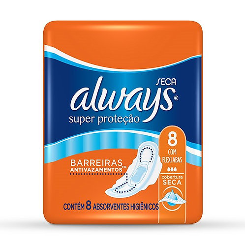 Absorvente Always Seca 8Un  C/Abas