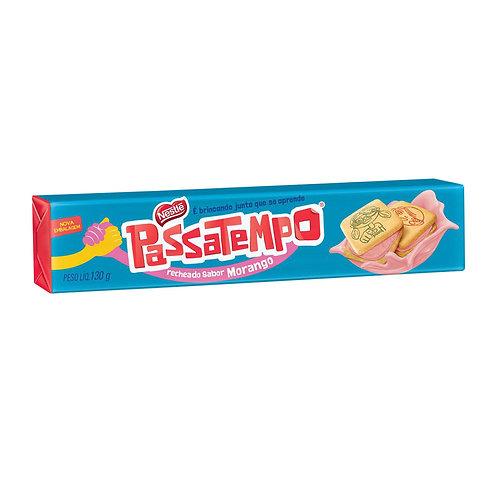 Biscoito Recheado Passatempo 130g  Morango