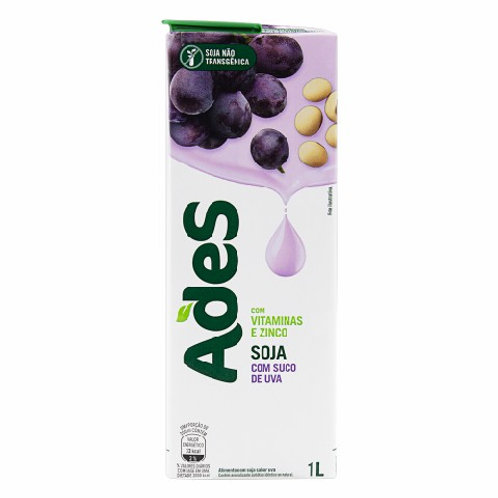 Alimento Soja Ades Soy Force 1L  Uva