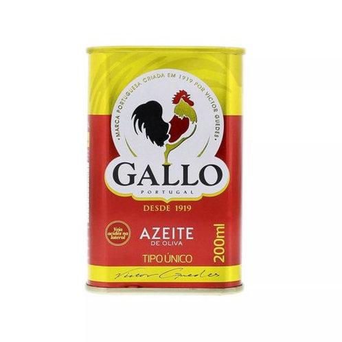 Azeite Oliva Gallo 200ml Tradicional Lata