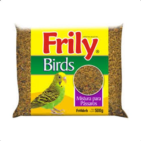 Ração Aves Frily 500g Mistura Para Passaros