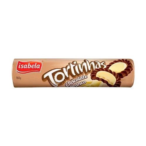 Biscoito Tortinhas Isabela 160g  Chocolate Branco