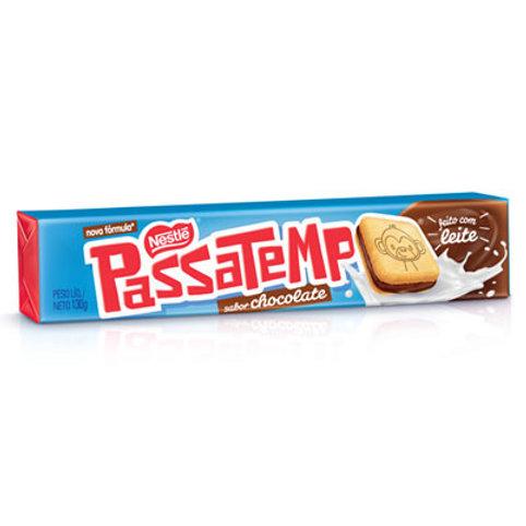 Biscoito Recheado Passatempo 130g  Chocolate