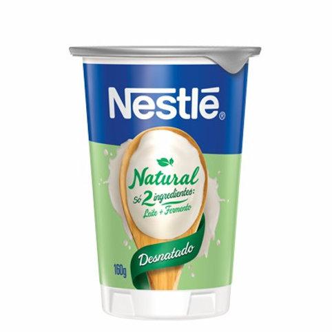 Iogurte Nestle Copo 160g  Natural Desnatado