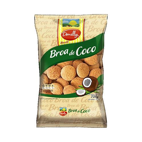 Biscoito Domelly Broa Coco 350G