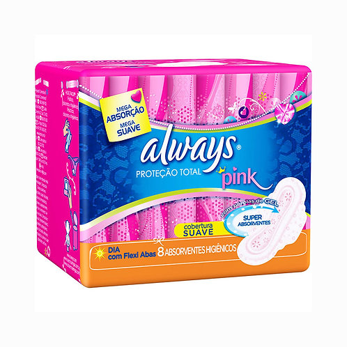 Absorvente Always Pink 8Un C/Abas