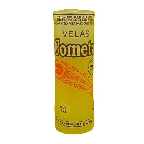 Vela 7 Dias Cometa 1 Cores 265g  Amarela