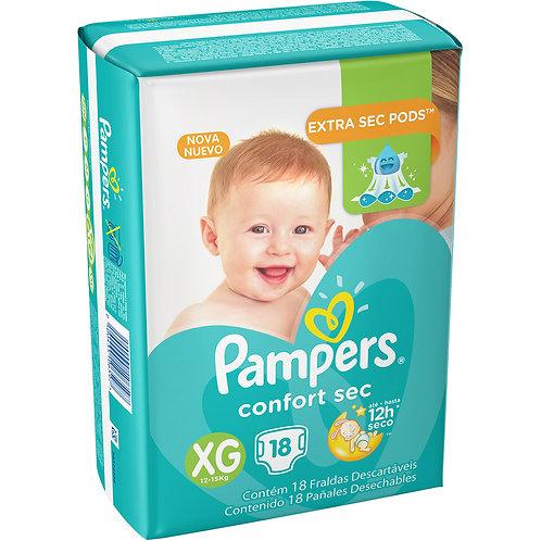 Fralda Pampers Confort Sec  18Un Xg
