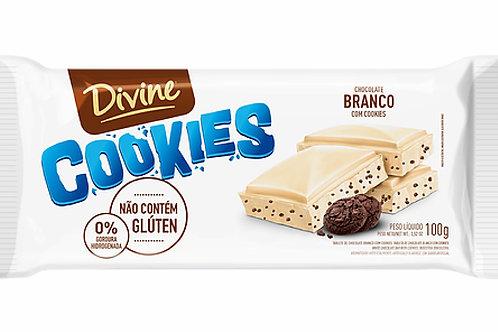 Chocolate Divine 90g  Branco C/Cookies