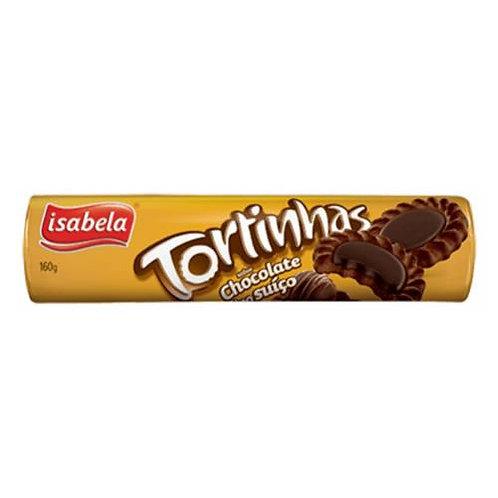 Biscoito Tortinhas Isabela 160g  Chocolate Suico