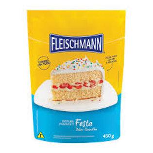 Mistura para Bolo Fleischmann 450g  Baunilha