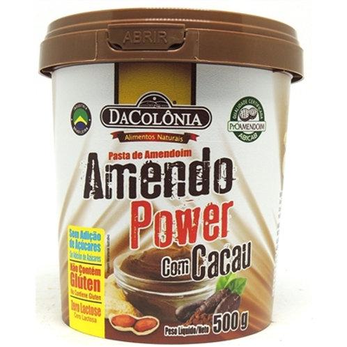 Pasta de Amendoim Amendo power 500g Cacau
