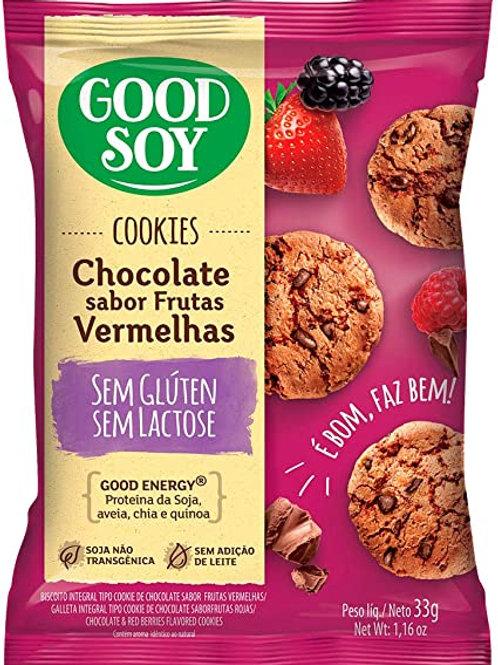 Cookies Good Soy 33g  Chocolate Frutas Vermelhas