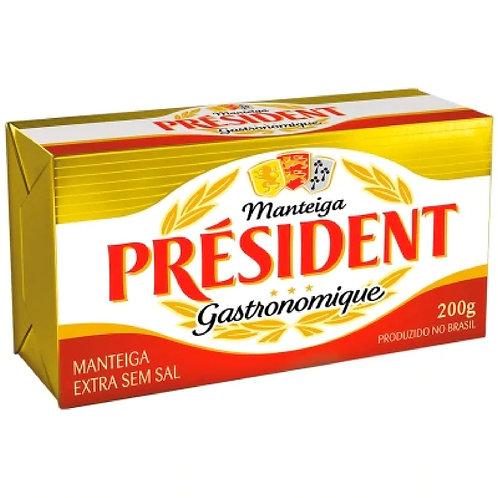 Manteiga President 200g  S/Sal